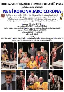 Docela velke divadlo - Neni korona jako corona - plakat